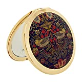 Stratton Compact Mirror Ladies Heritage Collection Strawberry Thief Dual 3 x Magnification Mirror ST1121