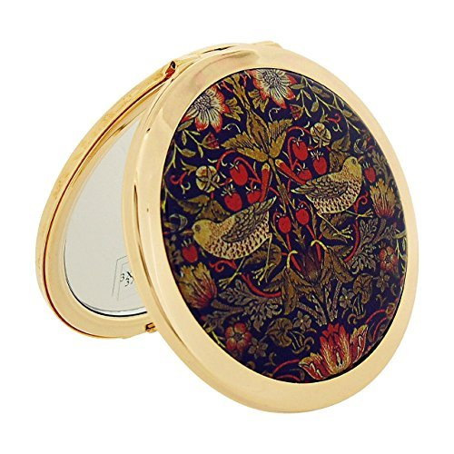 Stratton Compact Mirror Ladies Heritage Collection Strawberry Thief Dual 3 x Magnification Mirror ST1121 by Stratton