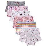 benetia Toddler Girls Underwear 6-Pack Soft Cotton Size 3t 4t