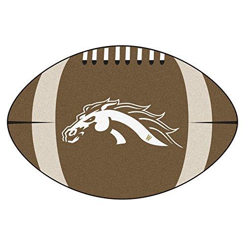 Western Michigan Football Rug - FANMATS NCAA Western Michigan University Broncos Nylon Face Football Rug