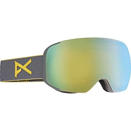 b6f97614dd32 Image Unavailable. Image not available for. Color  Anon M2 Snow Goggles Gray  With Gold Chrome ...
