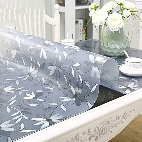 Bordsduk bord skyddande dynor rektangulär halkfri skydd 1,5 mm plast tjockt matbord skydd (storlek: 80 x 135 cm)