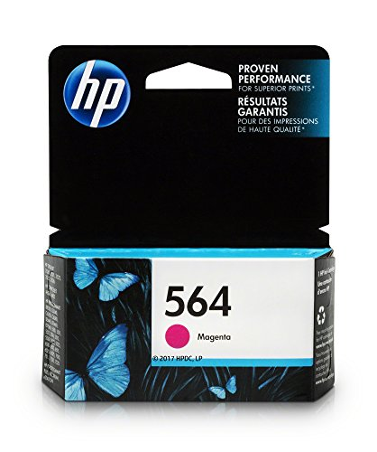 HP 564 Ink Cartridge Magenta (CB319WN) for HP Deskjet 3520 3521 3522 3526 Officejet 4610 4620 4622 Photosmart 5510 5514 5515 5520 5525 6510 6512 6515 6520 6525 7510 7515 7520 7525 B8550 C6340 C6350… (Hp C410 Photosmart Printer)