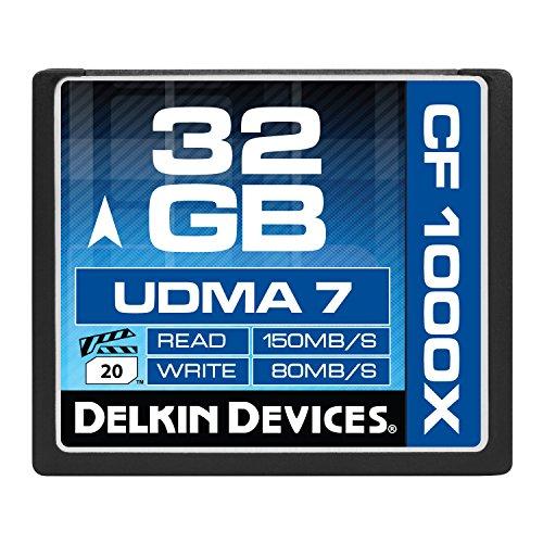 - Delkin DDCFCOMBAT1000-32GB 32GB CF 1000X UDMA 7 Memory Card