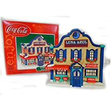 Holiday Lighted Building ~ Coca Cola Town Square Collection ~ Luna Azul Restaurant Cantina