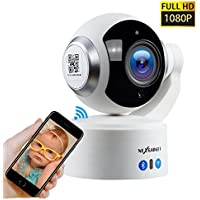 NexGadget 1080P Wireless IP Security Camera, Remote Control Home Video Monitoring Camera with Night Vision, Pan/Tilt, Two -Way Audio, Motion Detection