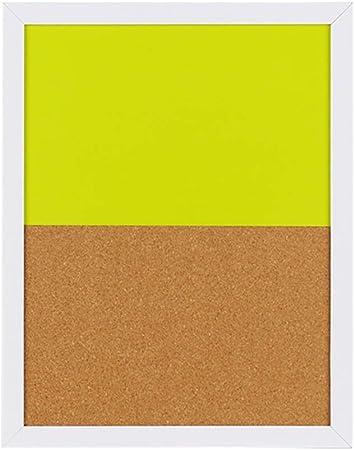LIANGJUN Pizarra Tablero Mensaje Recordatorios Tablero De Corcho Pizarra Sencillo Almacenar Costura De Color, 2 Colores (Color : Amarillo, Tamaño : 37.1x29.4cm): Amazon.es: Hogar