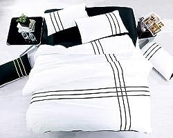 Joybuy Home Textile,unique 3d Bedding Sets, Black and White Active Bedding Sets, 4pcs Bed Sets Cotton (Size1:78x90