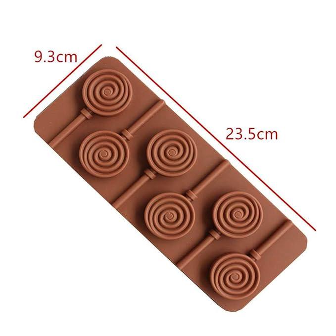 Zerama 6 Rejas Bricolaje Donut Animal Garra Cara de la Sonrisa de la Margarita Lollipop del Molde del Chocolate Molde del Caramelo Postre de Silicona: ...