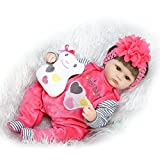 Reborn Baby Dolls Girl Look Real Lifelike Toddler Silicone with Toy Watermelon Red Outfit 16 inches