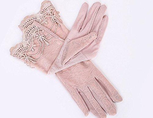 formanism エレガント レース使い 夏用 紫外線カット 外出 日焼け防止 サマー手袋 レディース (B)
