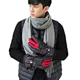 Golovejoy Unisex Snowproof Winter Warm Skiing Cycling Lined Thicken Gloves Windproof