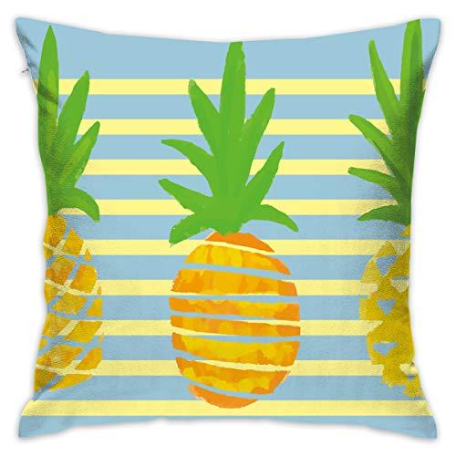 Karen Felix Throw Pillow Covers Three Pineapples Decorative Cushion Case for Sofa Bedroom Car 18 X 18 Inch 45 X 45 -