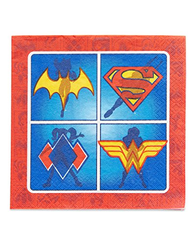 American Greetings DC Super Hero Girls Lunch Napkins, 16-Count