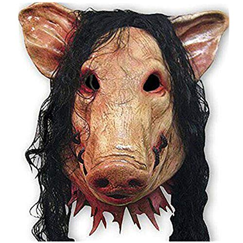 Halloween Horrible Pig Face Mask Masquerade Costume Latex Headgear Ghost Horror Cosplay Prop ()