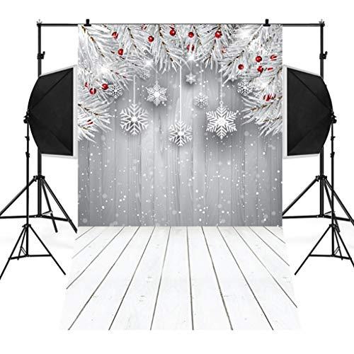 Wensltd Clearance! Christmas Backdrops Tree Vinyl 3x5FT Fireplace Background Photography Studio (K)