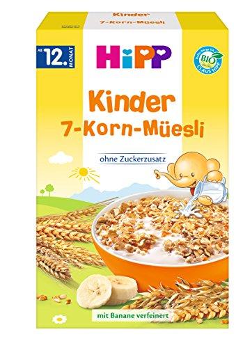 HiPP Bio-Kinder 7-Korn-Müesli, 6er Pack (6 x 200 g) 3533-02