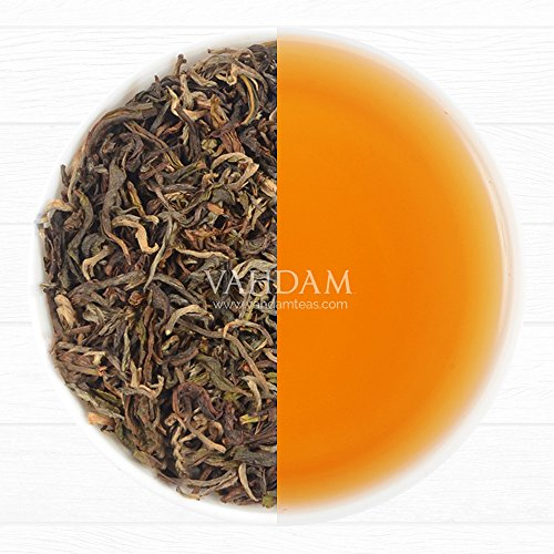 Autumn Gold Darjeeling, 2016 Harvest Autumn Flush Organic, Loose Leaf Tea Black Tea, 100% Pure Unblended Darjeeling Tea, Garden Fresh & Direct From Source in India (1.76oz / 50g) (Estate Collection Cut Crystal)