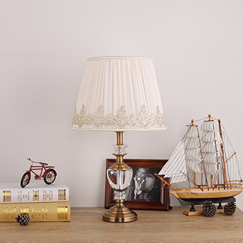 Garwarm Crystal Flower Table Lamps For Living Room Bedroom,3050CM/11.819.6 Inch WH by Garwarm