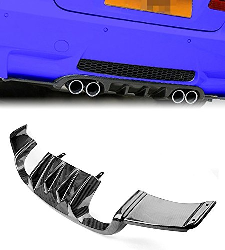 Bmw M3 Carbon Fiber (Brand New Real 3K Carbon Fiber Rear Trunk Bumper Diffuser For BMW E92 E93 M3 Coupe Cabrio)