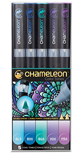 Chameleon Art Products, Chameleon 5-Pen, Cool Tones Set