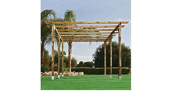 Kit Pergola 4.00x3.60 Postes 9 X 9: Amazon.es: Jardín