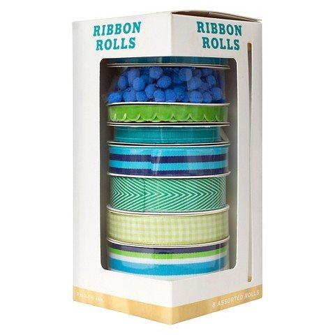 Hand Made Modern – 8ct Variety Ribbon Set – Green