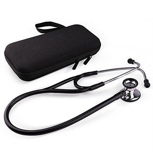 Stethoscope by LotFancy, Dual Head Diaphragm Bell for Adults, Pediatrics, Infant, Hard Case Included by LotFancy