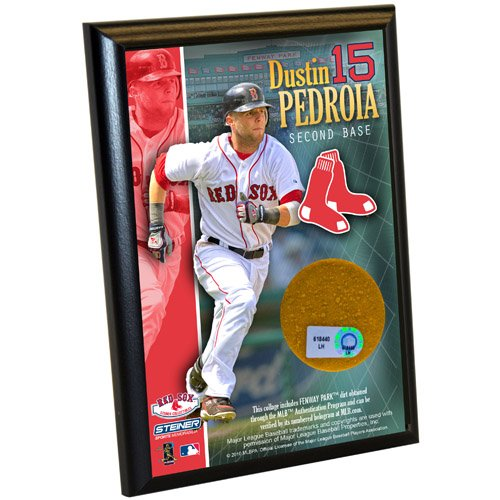 Steiner Sports MLB Boston Red Sox Dustin Pedroia 4-by-6-Inch Dirt (Sox Mlb Authenticated Game)