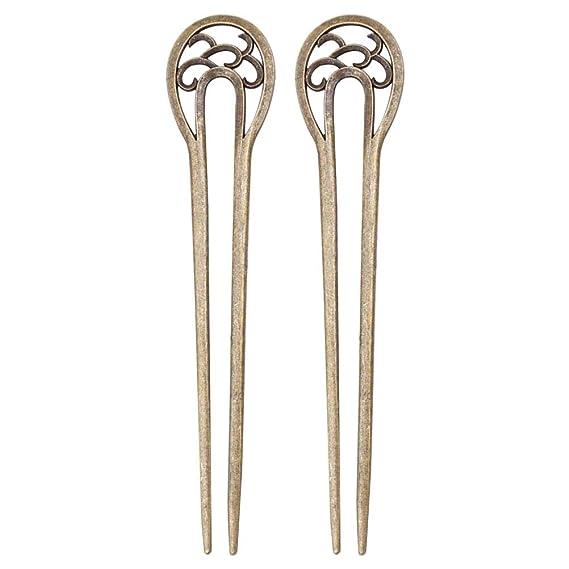 Details about  /U Shape Retro Metal Hair Fork Hair Pin Hair Pick Square Hair Clip Jewelry TK