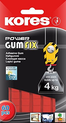 (Kores Power Gumfix Tack, Sticky Reusable Adhesive Gum, Pack of 60 Tacks)