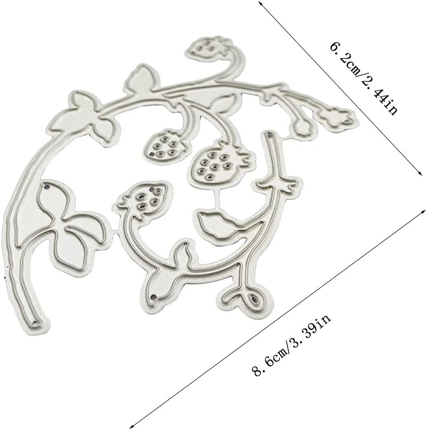 Kimnny Scrapbooking Cutting Dies Stencil,Strawberries Metal Cutting Dies Stencil Scrapbooking DIY Album Stamp Paper Card