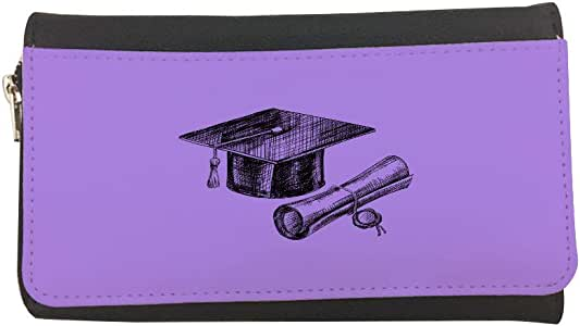 محفظة مصنوعة من الجلد بتصميم شعار يوم التخرج