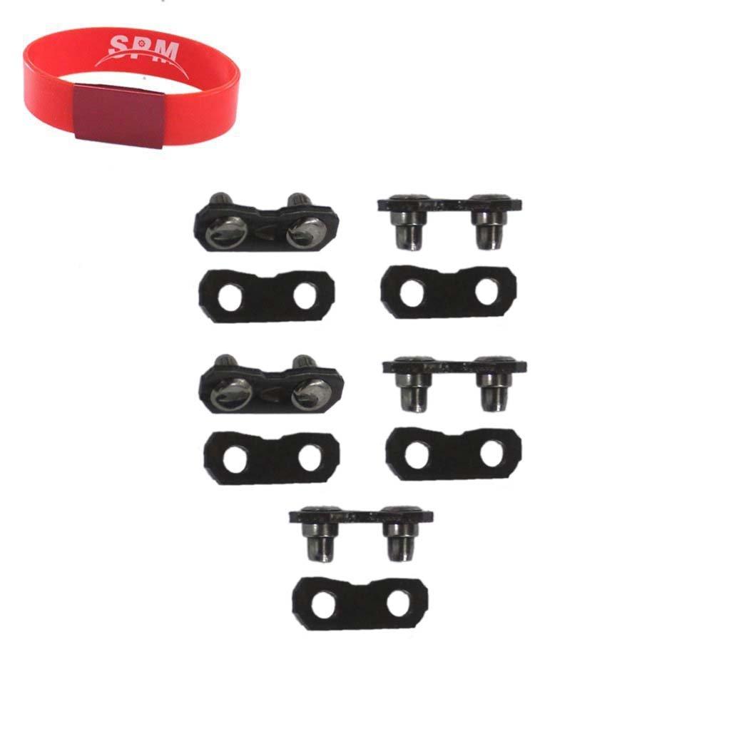 SPM 5 Pack 325' Chainsaw Chain Repair Kits .050 & .058 Master Links Tie Straps for Carlton Stihl Husqvarna Oregon