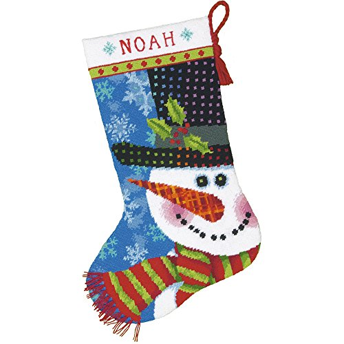 Dimensions Needlecrafts Dimensions Patterned Snowman Stocking Needlepoint Kit, - Patterned Christmas