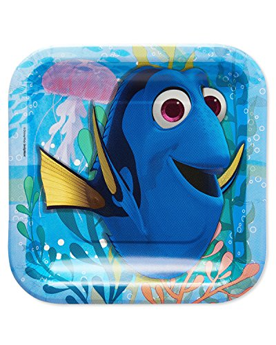 (American Greetings Finding Dory Square Party Plate (8 Count),)
