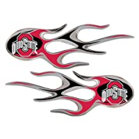 NCAA Ohio State Buckeyes Micro Flame Graphics Decal, Pack of 2