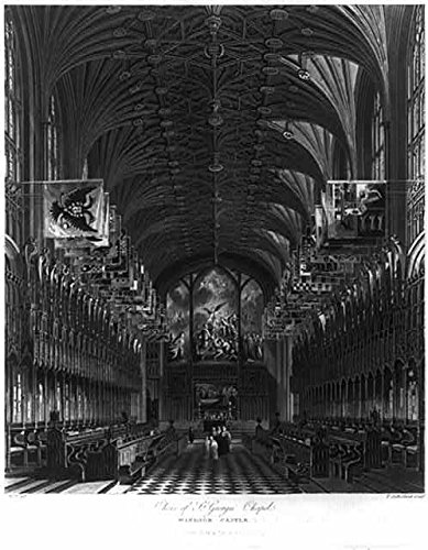 - HistoricalFindings Photo: Choir of St Georges Chapel,Windsor Castle,England,1818,Church