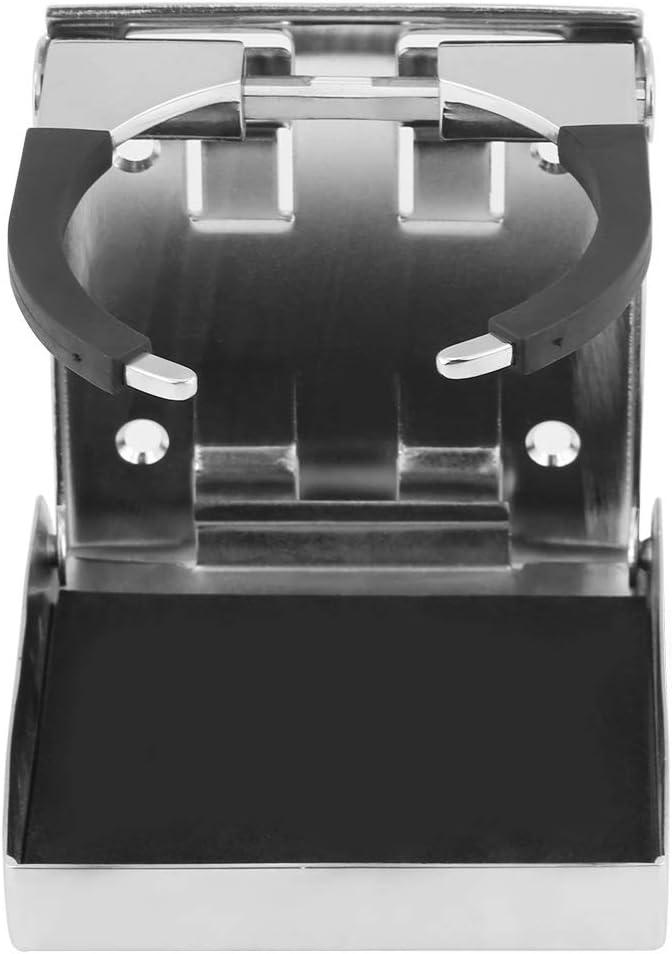 Stainless Steel Folding Drink Cup Bottle Holder for Marine Boat Truck RV Adjustable Marine Drink Cup Holder