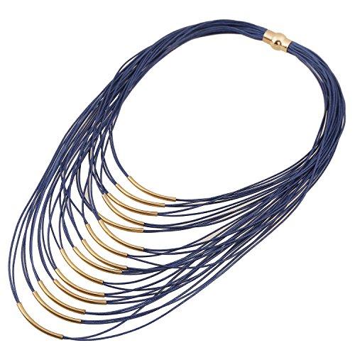 forever & moment leicht glatt seil multi - bündchen magnetverschluss kette armband für frauen ( bl-schwarz & weiße)