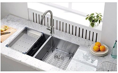 Starstar 18'' Stainless Steel Colander For Kitchen Sink by Star