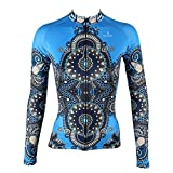 xl cycling jersey - Cycling Jersey, QinYing Women Patterns Stylish Breathable Bicycle Jersey Long Sleeve Blue XL