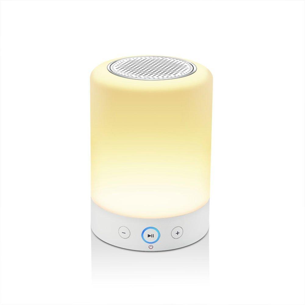 LIGHTSTORY L7 ワイヤレス ブルートゥーススピーカー ポータブル タッチセンサー付きナイトライト RGBカラー可変LEDデスクランプ ハンズフリースピーカーフォン FMラジオ S L7 B01FFCU00M 18699 ホワイト1 ホワイト1