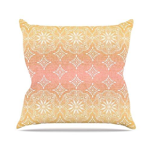 Medallion Blush (Kess InHouse Suzie Tremel Medallion Blush Ombre Pink Outdoor Throw Pillow, 18