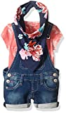 True Religion Baby Girls' 3pc Overall Set, Fuchsia, 9 Months