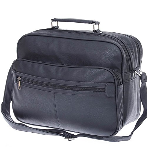 Messenger-Bag , Borsa Messenger  Donna Uomo Unisex adulto nero nero