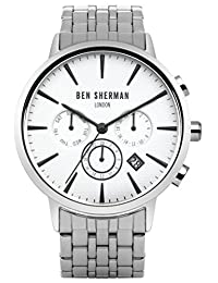 Ben Sherman Men's WB028SMA Portobello Professional Analog Display Quartz Silver Watch