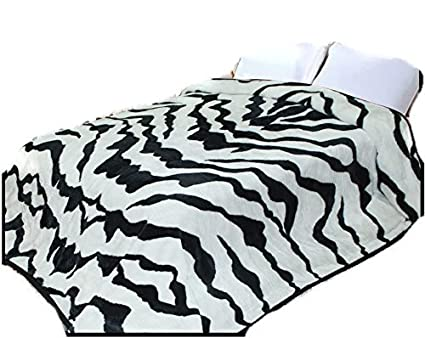 Amazon.com  Zebra Stripe 2ply Throw Animal Blanket 3d3482849