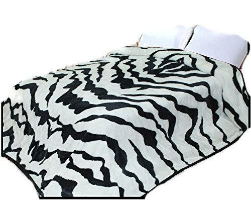 Zebra Stripe 2ply Throw Animal Blanket,90