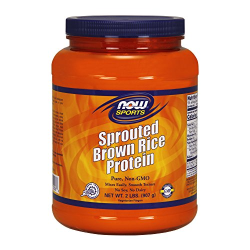 Foods Rice Protein - NOW Sports Sprouted Brown Rice Protein Powder,2-Pound